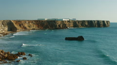 Fortress of Sagres Tonel beach Stock Footage
