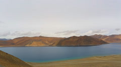 Pangong Tso lake panorama Stock Footage