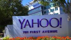 Establishing shot of Yahoo Headquarters in Sunnyvale California. Stock Footage