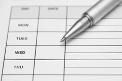 Weekly time sheet - stock photo
