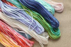 Cross-Stitch Threads - stock photo