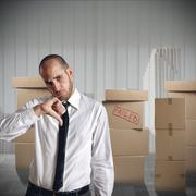 Businessman fired - stock photo