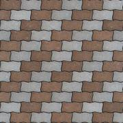Seamless Texture of Pavement as Wavy Parallelogram - stock illustration