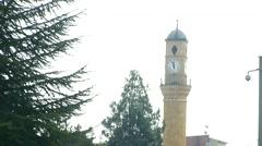 Clock Tower in Corum, Turkey Stock Footage