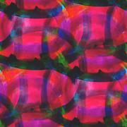artist artwork palette picture frame graphic seamless red, green - stock illustration