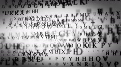 Dark Letters Stock Footage