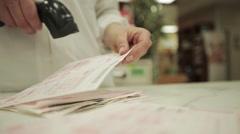 Medical prescription check barcode Stock Footage