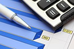Financial statements (Business Graph) Stock Photos