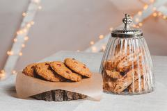 Composition cookies with berries, bank Stock Photos