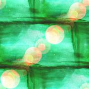 Stock Illustration of bokeh abstract green watercolor, and art seamless texture hand p