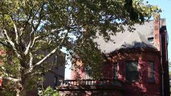 Old Brooklyn Homes Sunshine Trees Shade Stock Footage