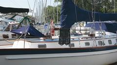 Marina Lakeview Sailboats 05svv Stock Footage