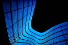 Abstract freezelight curves. Made by lights - stock photo