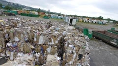 Stock Video Footage of Recycling center aerial view