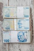 Bunch of Turkish Lira Stock Photos