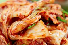 Kimchi (fermented vegetables), Korean Traditional Dish - stock photo