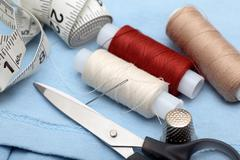 Preparation for the sewing - stock photo