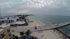 Aerial over Playa Del Carmen Mexico Stock Footage