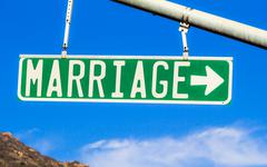 Marriage Street Sign Stock Photos