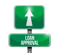 loan approval road sign illustration design - stock illustration