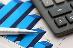Financial statements (Business Graph or Stock Market Data) Stock Photos