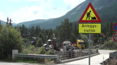 Hemsedal, construction to a bridge Stock Footage