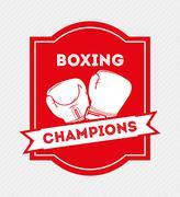 Stock Illustration of boxing emblem design, vector illustration eps10 graphic