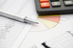 Financial statements Stock Photos