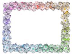 Rectangle Floral Frame - stock illustration