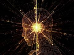Virtual mind Stock Illustration