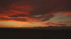 California Desert Sunset with moving clouds Stock Footage