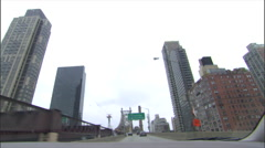 NY-QueensboroBridge driving day - stock footage