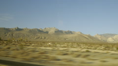 Driving through California desert Pinewood to Ridgecrest hi-speed Stock Footage