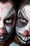 Clown face paiting Stock Photos