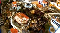 Miniature Village , in Motion Stock Footage