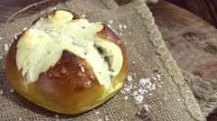 Salty Pretzel Roll (seamless loopable) Stock Footage
