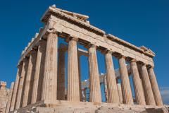 Parthenon on the Acropolis of Athens - stock photo