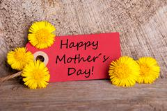 Red Banner with Happy Mothers Day on it - stock photo