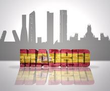 View of Madrid - stock illustration