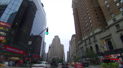 NY-driving buildings day Stock Footage