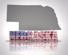 Nebraska State - stock illustration