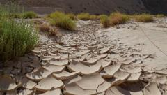 DESERT AND SAND CRACK - SLOWMOTION - RONIN Stock Footage