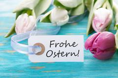 Tag with Frohe Ostern Stock Photos