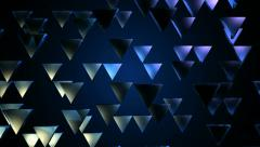 Blue triagonal pieces Stock Footage