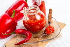 sharp tomatoes paste - stock photo