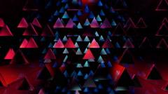 Array triangle glow Stock Footage