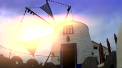 Windmill against the Light - stock footage
