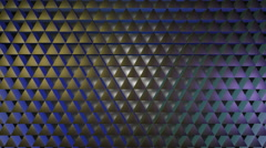 Shinny purple triagonal Stock Footage