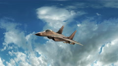 Fighter Jet Animation Stock Footage