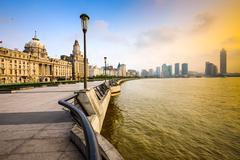 Shanghai Cityscape in the Bund Stock Photos